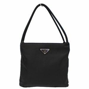 PRADA Tessuto City Nylon Shoulder Bag Black